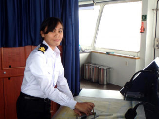 Female deck officer