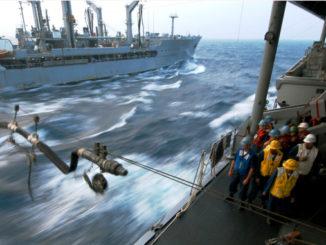 Refueling at sea