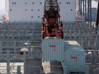 OOCL Loading containers