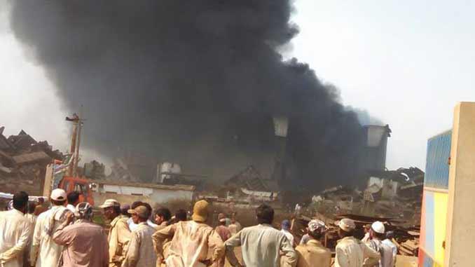 Gadani ship fire